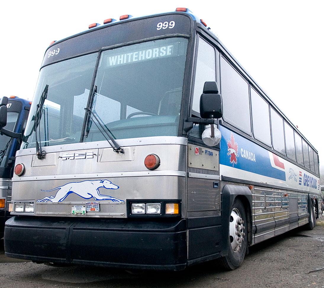 grey hound bus