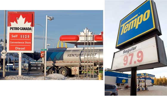 Whitehorse Daily Star: Gas prices take gigantic leap at many